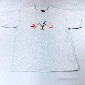 90's Vtg Mickey Unlimited Embroidered Mickey Tee